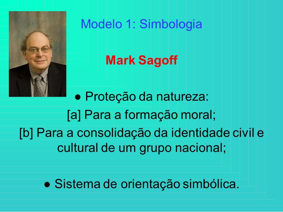 ● Proteção da natureza: [a] Para a formação moral;